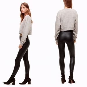 Wilfred Free Daria faux leather leggings size S  A